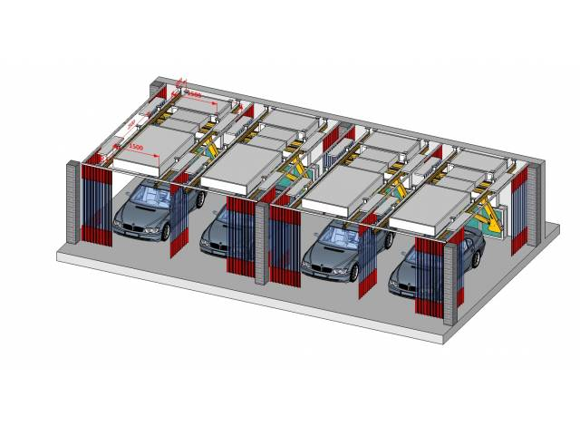 Estaciones de trabajo para lijado y retoque con reciclado de aire, sin salida al exterior.